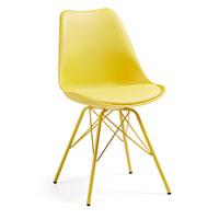 Kave Home Eetkamerstoel / Kuipstoel 'Ralf', kleur geel