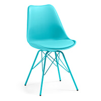 Kave Home Eetkamerstoel / Kuipstoel 'Ralf', kleur turquoise