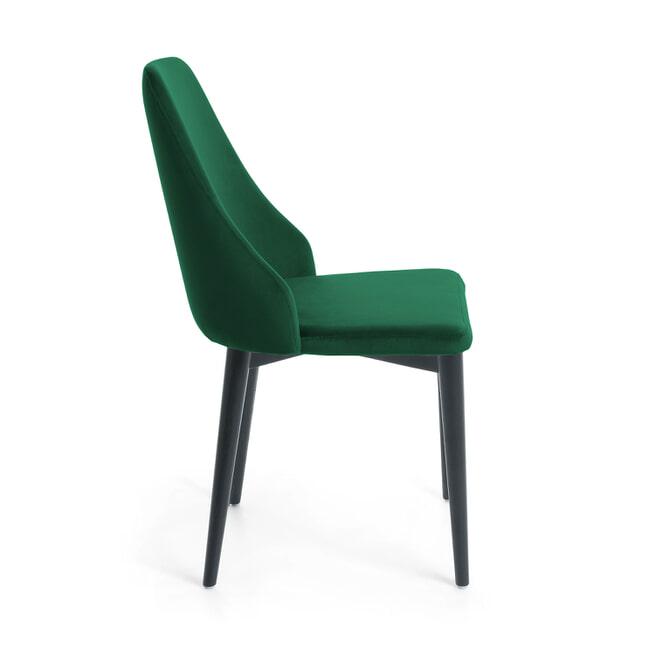 Kave Home Eetkamerstoel 'Rosie' Velvet, kleur Groen