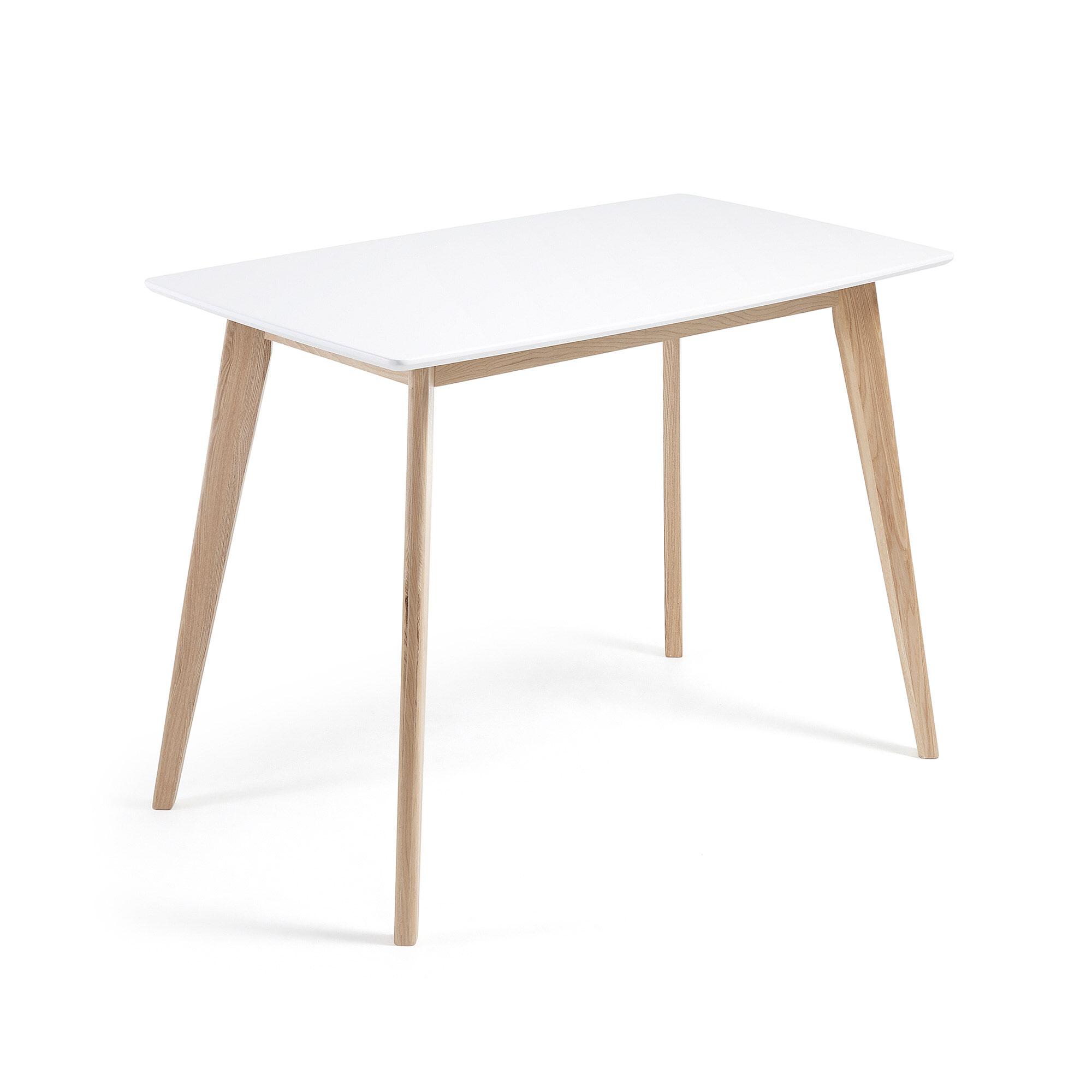 Kave Home Eettafel 'Anit' 120 x 75cm, kleur wit