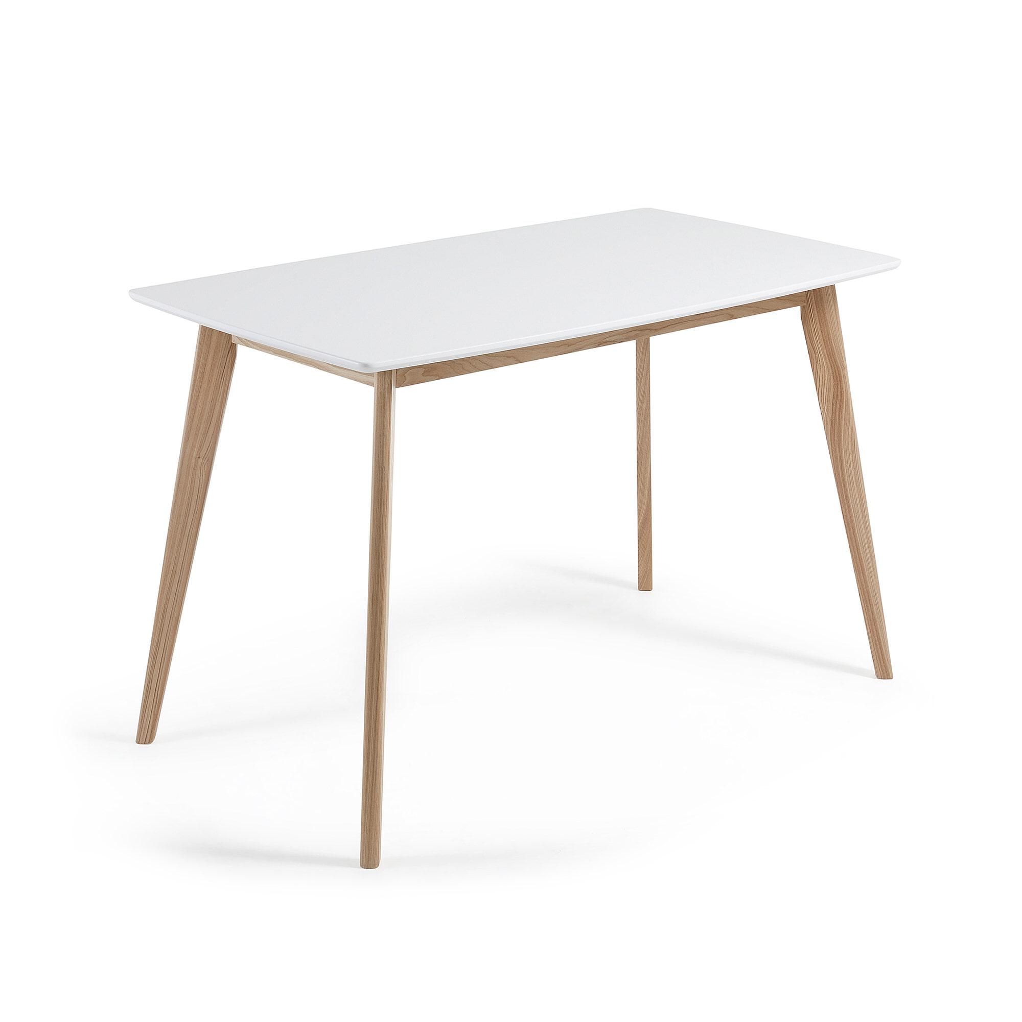 Kave Home Eettafel 'Anit' 140 x 80cm, kleur wit