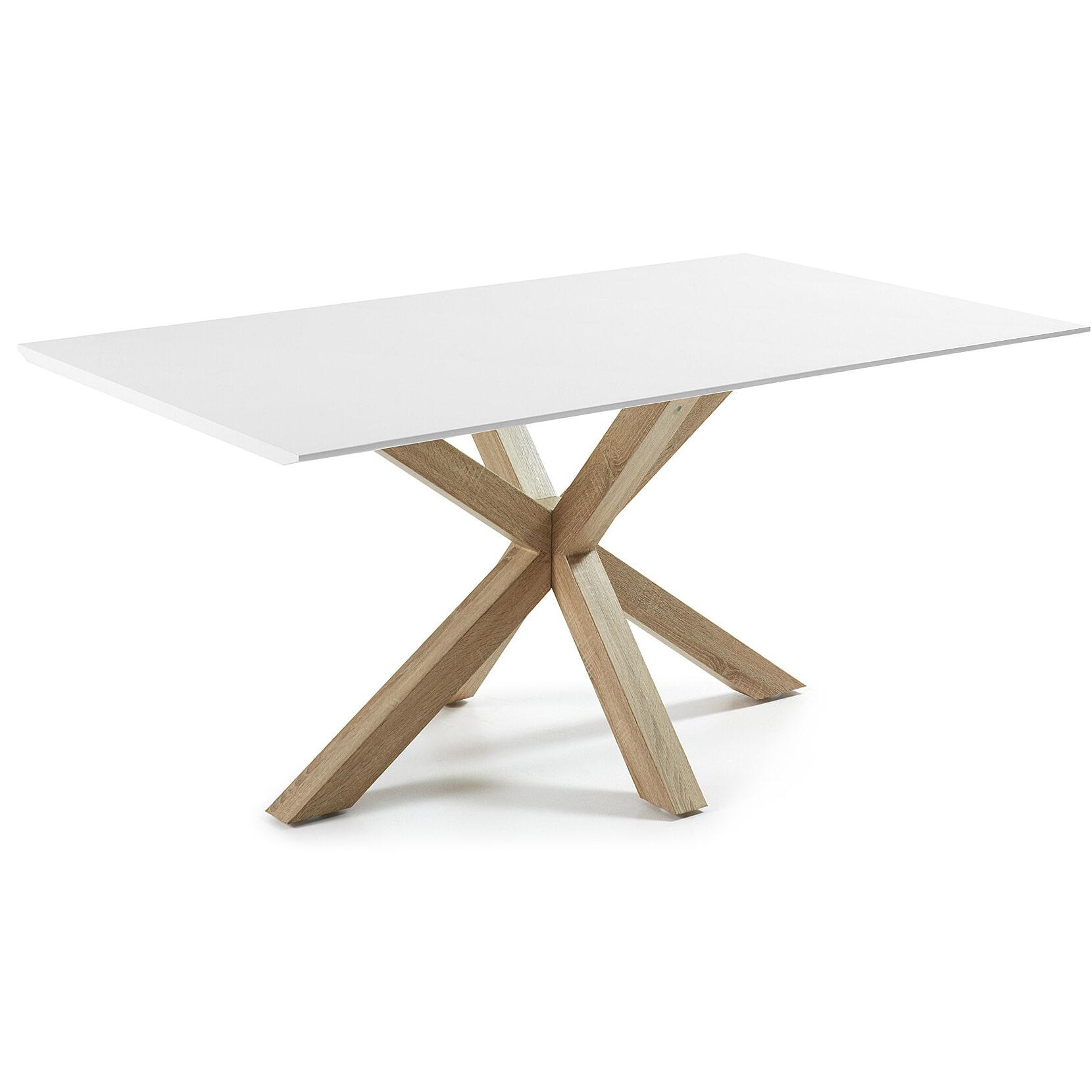 Kave Home Eettafel 'Argo' hout - wit, 180 x 100cm