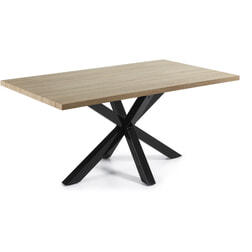 Kave Home Eettafel 'Argo' zwart / hout