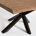 Kave Home Eettafel 'Argo' zwart / verouderd eiken, 180 x 100cm