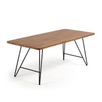 Kave Home Eettafel 'Comme' 200 x 90cm, kleur Teak