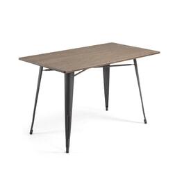 Kave Home Eettafel / Tuintafel 'Malira' 150 x 80cm, kleur Zwart
