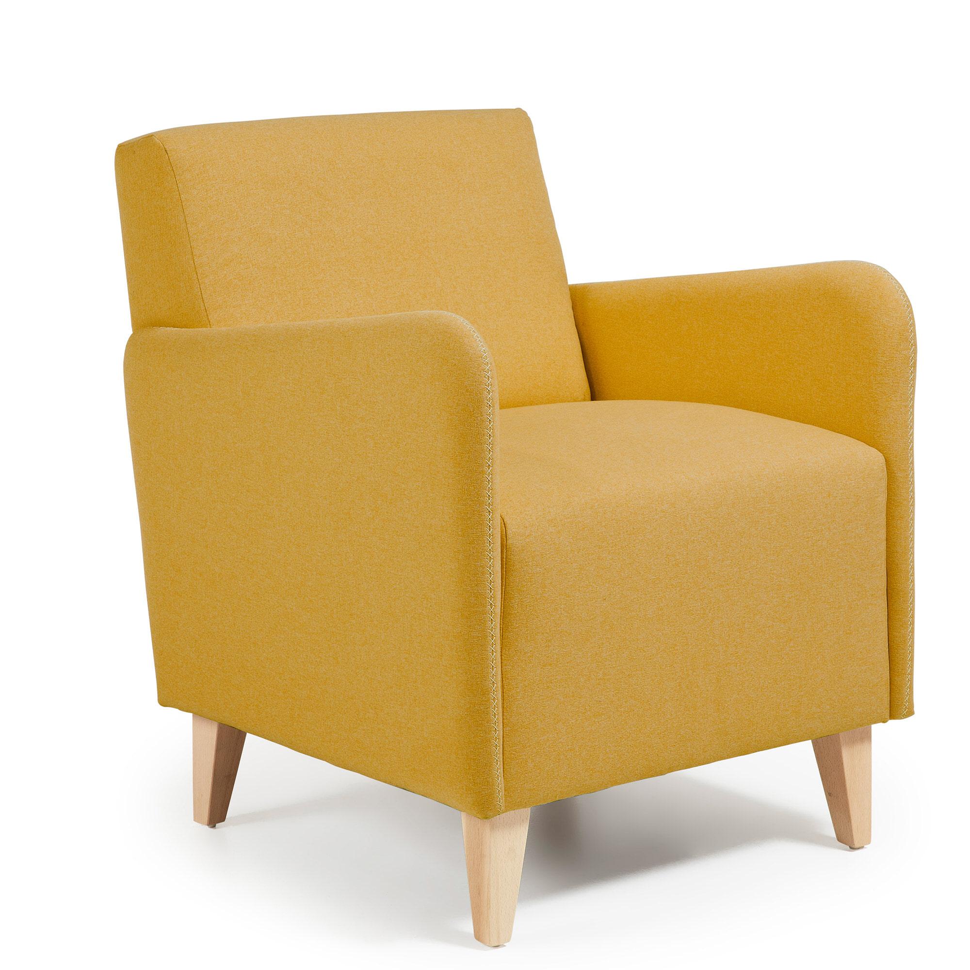 Kave Home Fauteuil 'Arck' kleur geel