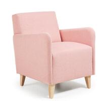 Kave Home Fauteuil 'Arck' kleur roze