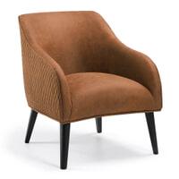 Kave Home fauteuil 'Bobly', kleur cognac
