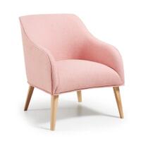 Kave Home Fauteuil 'Bobly' kleur roze