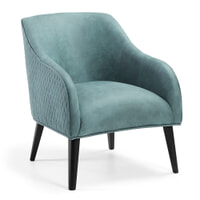 Kave Home fauteuil 'Bobly', kleur turquoise