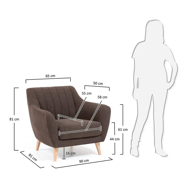 Kave Home Fauteuil 'Obo'