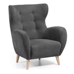 Kave Home Fauteuil 'Patio' kleur antraciet