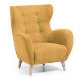 Kave Home Fauteuil 'Patio' kleur Geel