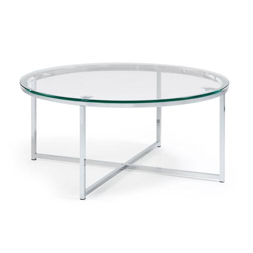 Design Bijzettafel Chroomglas.Glazen Salontafel Kopen Grote Collectie Meubelpartner