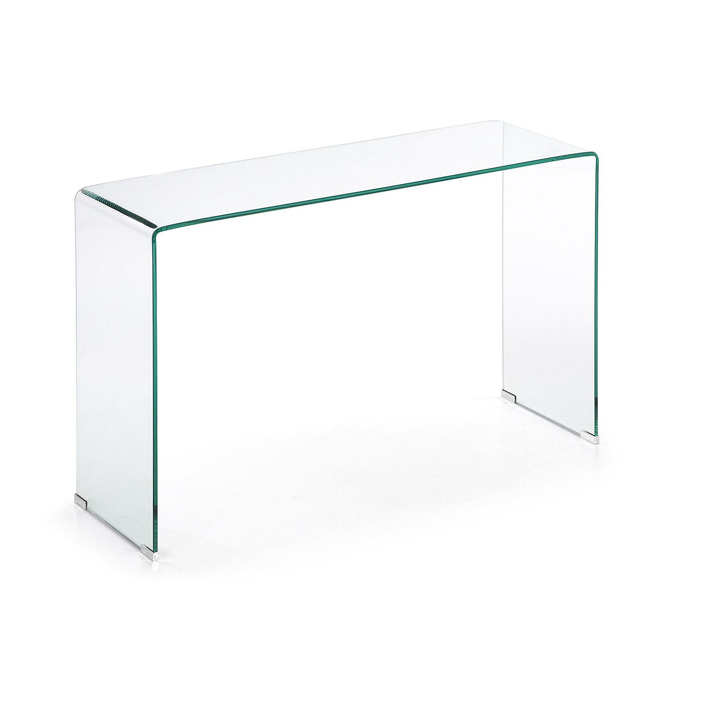 Glazen Wandtafel Sidetable.Kave Home Glazen Sidetable Burano 125 X 40 Cm