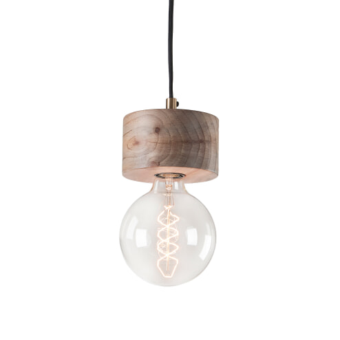 Kave Home hanglamp 'Allie' hout