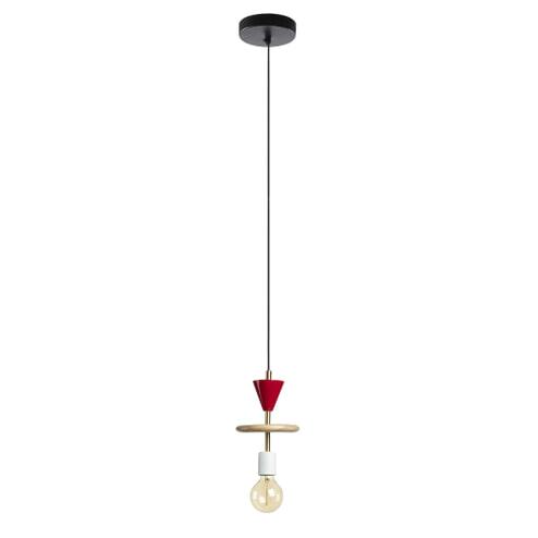 Kave Home Hanglamp 'Nuria', kleur rood