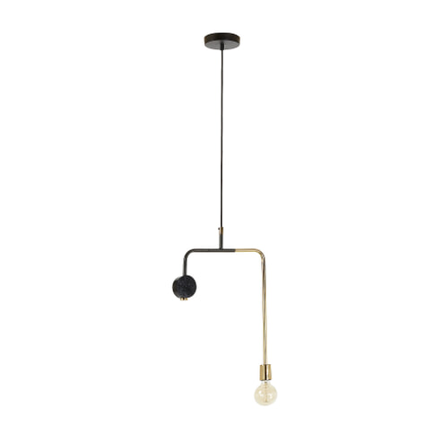 Kave Home Hanglamp 'Wick' kleur goud