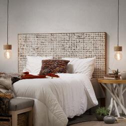 Kave Home Hoofdbord 'Kron' 164cm, kleur wit