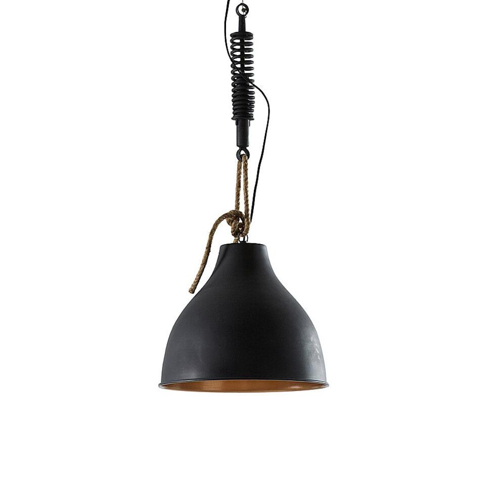 Kave Home Industriële hanglamp 'Sadie' zwart