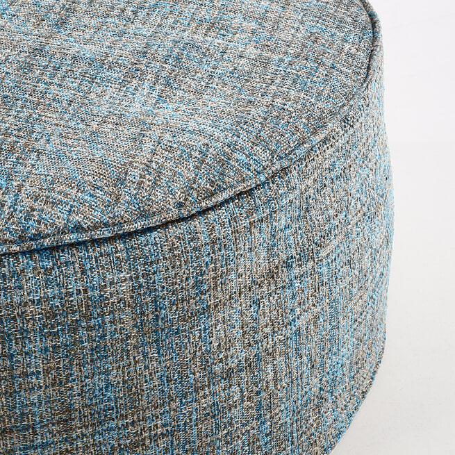 Kave Home Poef 'Boho' 60cm, kleur Blauw