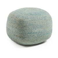 Kave Home Poef 'Doc' kleur blauw