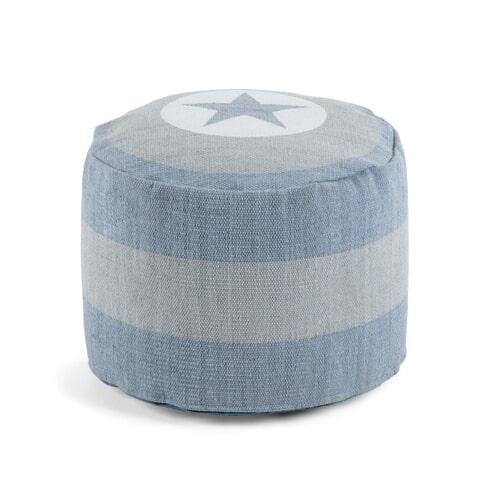 Kave Home Poef 'Guny' kleur Blauw