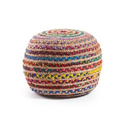 Kave Home poef 'Saht', kleur multicolor