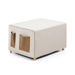 Kave Home poef/vouwbed 'Kos', kleur beige