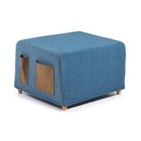 Kave Home poef/vouwbed 'Kos', kleur blauw