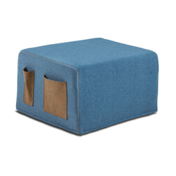 Kave Home Poef / vouwbed 'Verdi', kleur Donkerblauw
