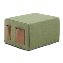 Kave Home Poef / vouwbed 'Verdi', kleur Groen