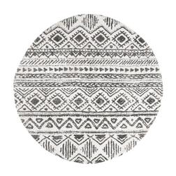 Kave Home Rond Vloerkleed 'Coly' 150cm, kleur Zwart