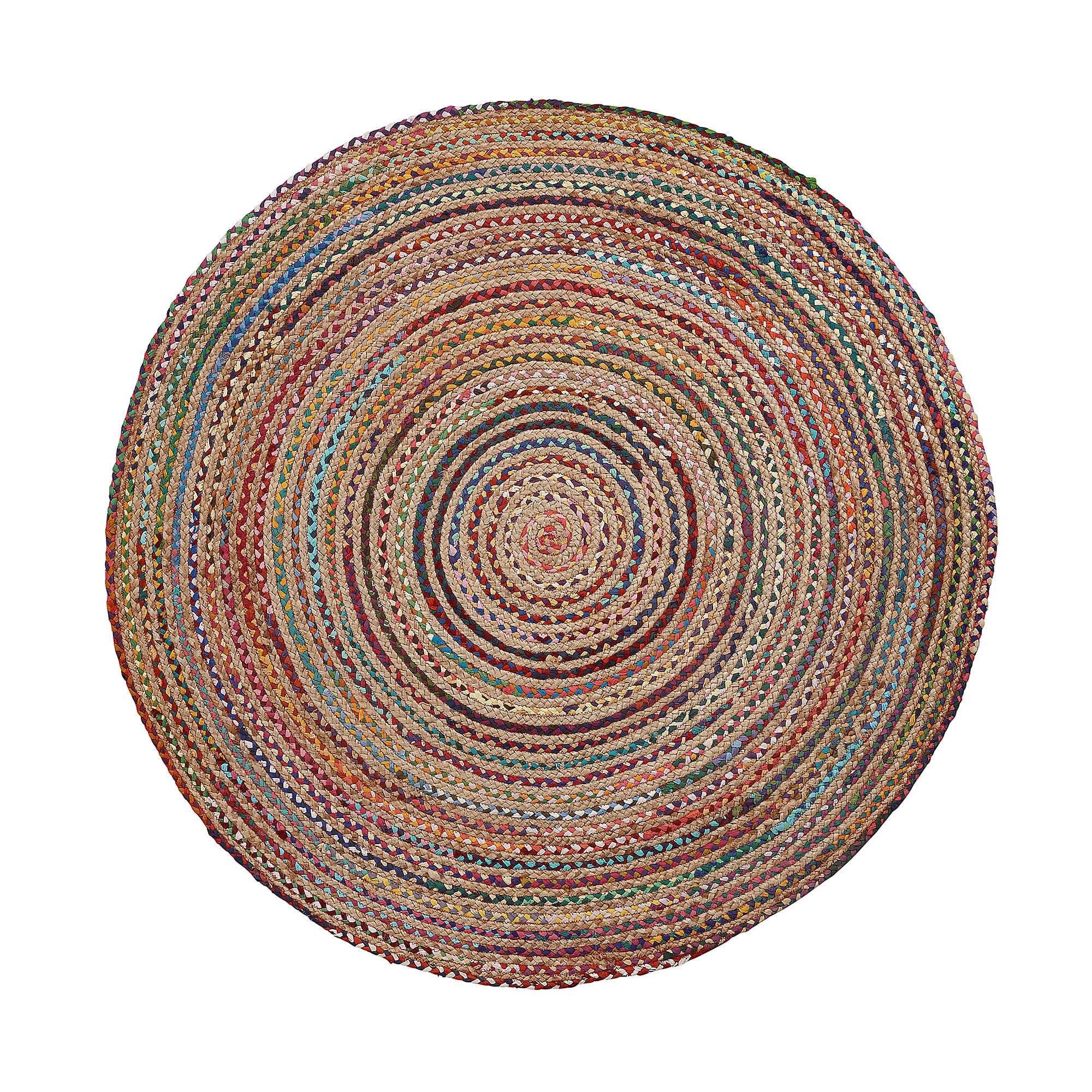 Kave Home Rond Vloerkleed 'Saht' 100cm, multicolor Woonaccessoires | Vloerkleden