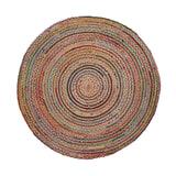 Kave Home Rond Vloerkleed 'Saht' 100cm, Multicolor