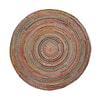 Kave Home rond vloerkleed 'Saht' jute 150cm, kleur multicolor