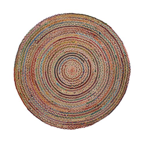 Kave Home Rond Vloerkleed 'Saht' Multicolor