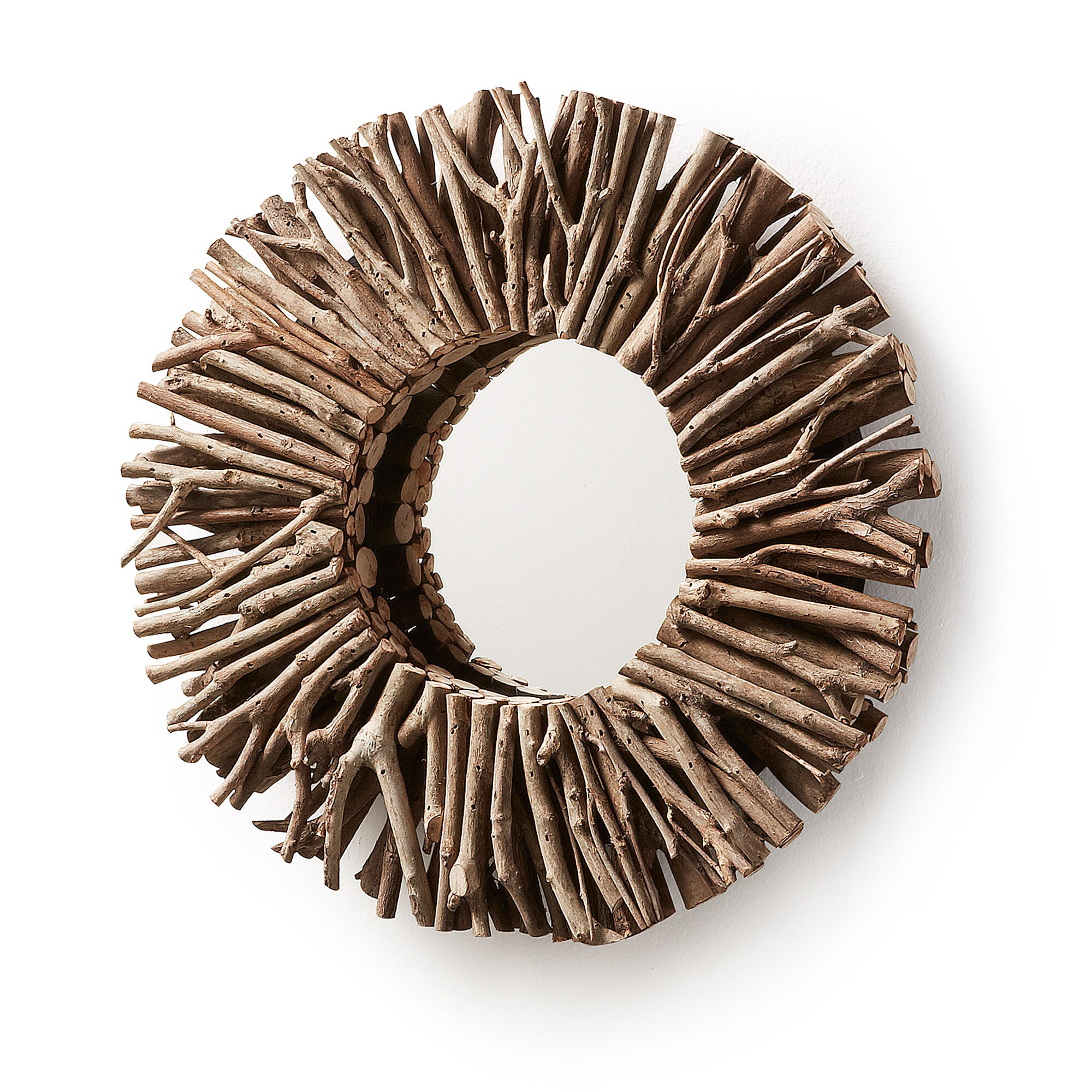 Kave Home Ronde spiegel 'Electric' ? 35cm Uitverkoop vergelijken doe je het voordeligst hier bij Meubelpartner