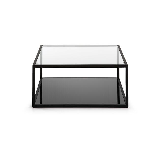 Kave Home Salontafel 'Blackhill' Glas met zwart frame