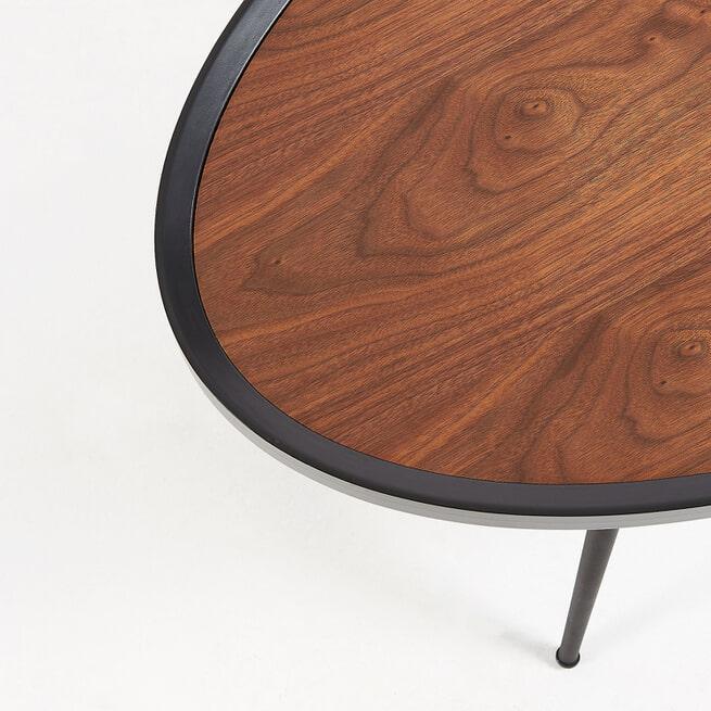 Kave Home Salontafel 'Kinsley' 102 x 56cm, kleur Zwart