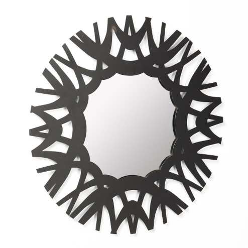 Kave Home Spiegel 'Mikel' 60cm, kleur Zwart