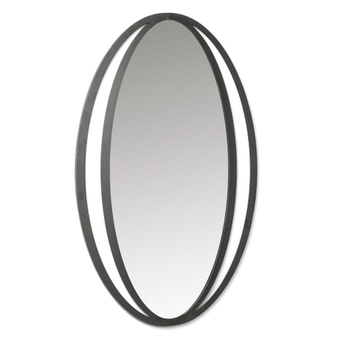 Kave Home Spiegel 'Monde' 65 x 100cm, kleur Zwart
