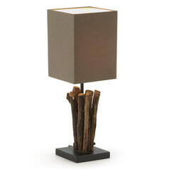 Kave Home Tafellamp 'Antares', kleur bruin
