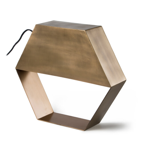 Kave Home tafellamp 'Bidi', kleur koper