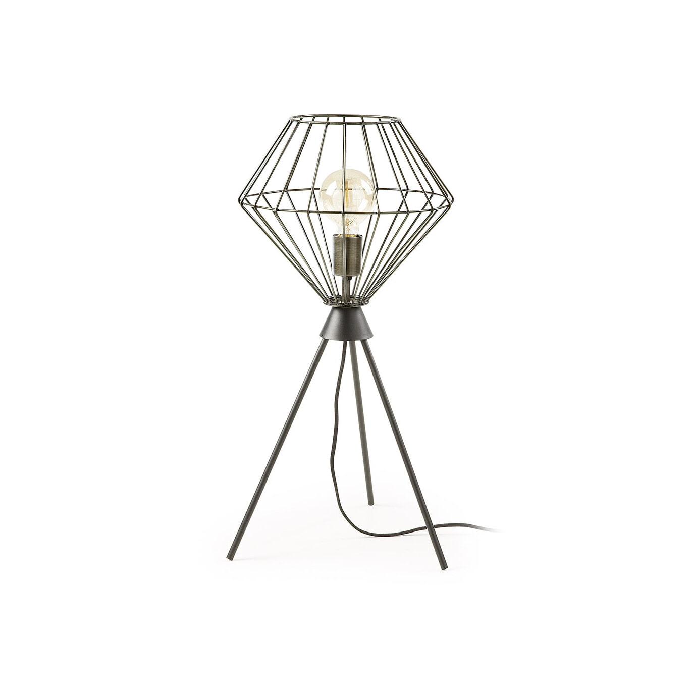 Kave Home Tafellamp 'Cabana', kleur zwart