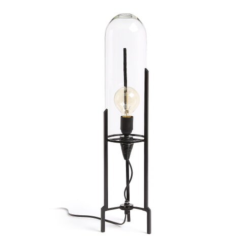 Kave Home Tafellamp 'Killari', kleur Zwart