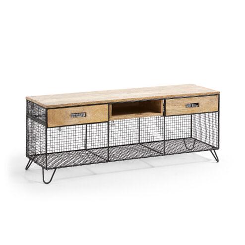 Kave Home TV-meubel 'Isadora' 120cm, kleur Zwart