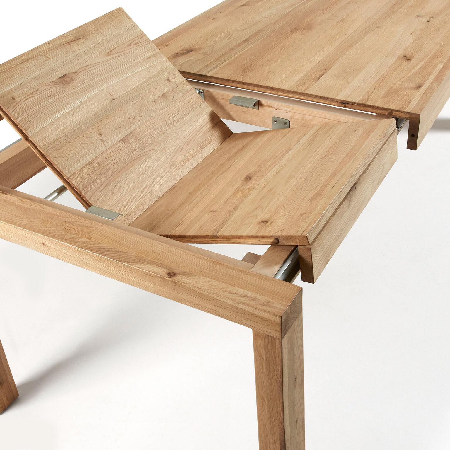 Uitschuifbare Houten Eettafel.Kave Home Uitschuifbare Eettafel Briva Eiken Naturel 180 X 90cm
