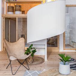 Kave Home Vlinderstoel 'Fly' kleur beige